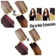Clip in Hair Extensions 10 pcs set Synthetic