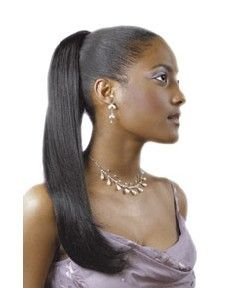 Euro Long EZ Sleek Drawstring Ponytail