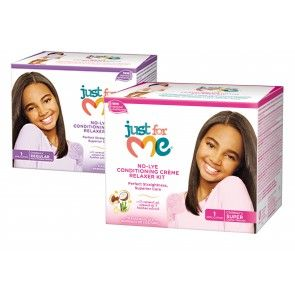 Just For Me No-Lye Conditioner Créme Relaxer Kit